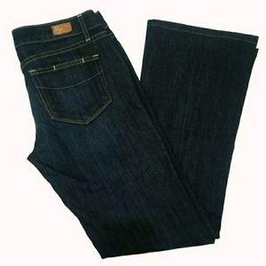 Paige Laurel Canyon Dark Wash Bootcut Jeans Sz 27